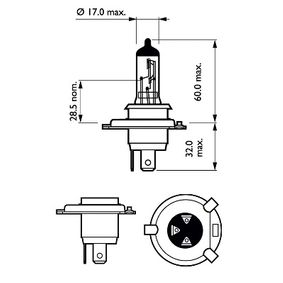 Glühlampe, Fernscheinwerfer mit OEM-Nummer 3 713 341 M1
