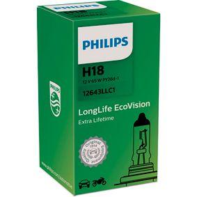 Bulb, spotlight H18, 65W, 12V 12643LLC1 FORD ECOSPORT