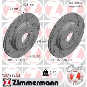 Bremsscheibe Bremsscheibendicke: 22mm, Lochanzahl: 5, Ø: 320mm mit OEM-Nummer 3421 6 855 157