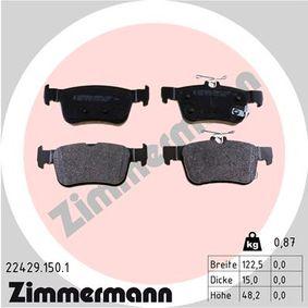 ZIMMERMANN  22429.150.1 Kit de plaquettes de frein, frein à disque Largeur: 122,5mm, Hauteur 1: 48,1mm, Hauteur 2: 53,2mm, Épaisseur: 15,0mm
