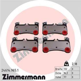 Bremsbelagsatz, Scheibenbremse Breite: 132mm, Höhe: 77mm, Dicke/Stärke: 16mm mit OEM-Nummer 955.352.939.61