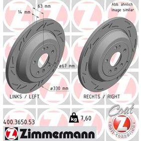 Спирачен диск 400.3650.53 M-класа (W164) ML 320 CDI 3.0 4-matic (164.122) Г.П. 2009