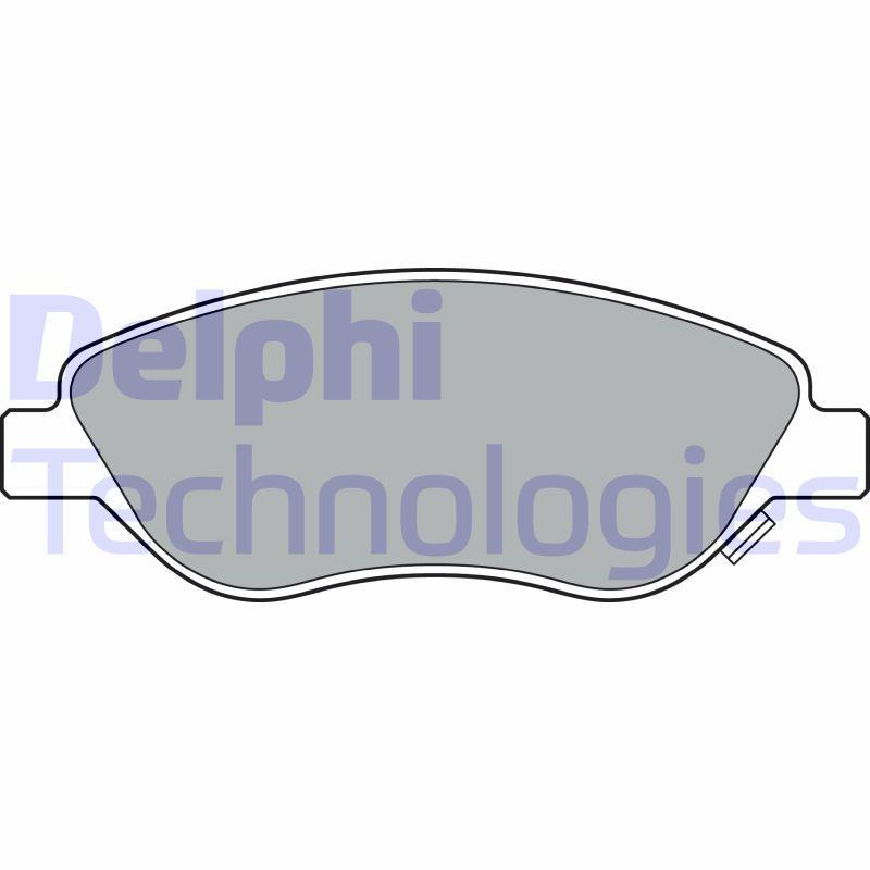 DELPHI  LP3360 Bremsbelagsatz, Scheibenbremse Höhe: 58mm, Dicke/Stärke 1: 19mm