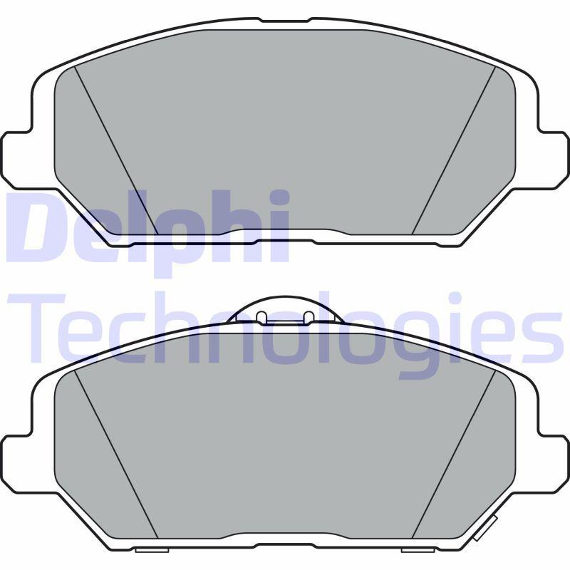 DELPHI  LP3385 Brake Pad Set, disc brake Height 2: 59mm, Height: 59mm, Thickness 1: 20mm, Thickness 2: 20mm