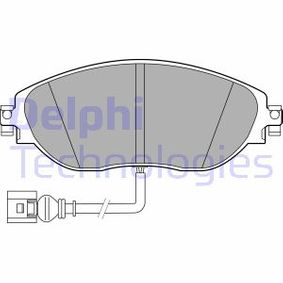 Brake Pad Set, disc brake Height 2: 70mm, Height: 70mm, Thickness 1: 20mm, Thickness 2: 20mm with OEM Number 5Q0698151L