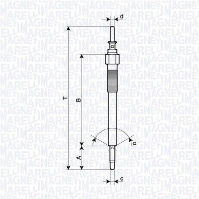 MAGNETI MARELLI  062900135304 Glühkerze Länge über Alles: 145mm, Gewindemaß: M10X1.25