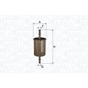 Fuel filter Height: 162,5mm with OEM Number 96 335 719