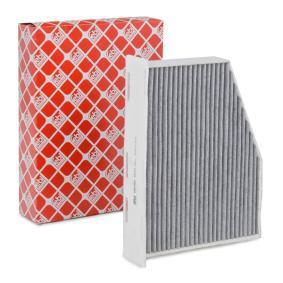 Filter, Innenraumluft Länge: 288mm, Breite: 213,0mm, Höhe: 34mm mit OEM-Nummer 1K1 819 653