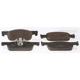 Bremsbelagsatz, Scheibenbremse Breite: 155,1mm, Höhe: 49,1mm, Dicke/Stärke: 17mm mit OEM-Nummer 410605536R