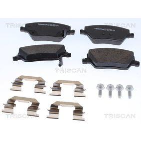 Bremsbelagsatz, Scheibenbremse Breite: 133mm, Höhe: 58,6mm, Dicke/Stärke: 19,2mm mit OEM-Nummer 77367628