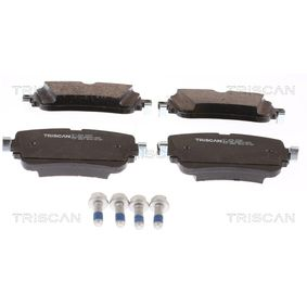 Brake Pad Set, disc brake Width: 129,1mm, Height: 65,05mm, Thickness: 17mm with OEM Number 4M0 698 451P