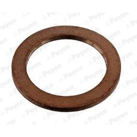 Уплътнителен пръстен, пробка за източване на маслото Ø: 20,00мм, дебелина: 1,50мм, вътрешен диаметър: 14,00мм с ОЕМ-номер N 138 492
