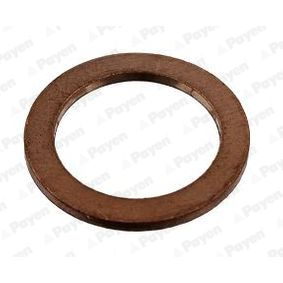 Seal, oil drain plug Ø: 20,00mm, Thickness: 1,50mm, Inner Diameter: 14,00mm with OEM Number 7703062043