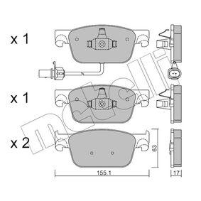 Bremsbelagsatz, Scheibenbremse Dicke/Stärke 1: 17,0mm mit OEM-Nummer 8W0 698 151 AG