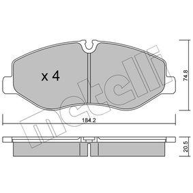 Bremsbelagsatz, Scheibenbremse Dicke/Stärke 1: 20,5mm mit OEM-Nummer A 447 421 0800