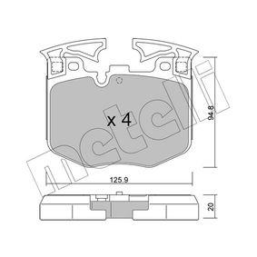 Bremsbelagsatz, Scheibenbremse Dicke/Stärke 1: 20,0mm mit OEM-Nummer 3411 6 888 457