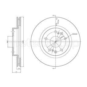 Bremsscheibe Bremsscheibendicke: 22,0mm, Lochanzahl: 5, Ø: 280,0mm mit OEM-Nummer 55311-61M00