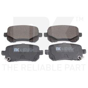 NK  229992 Bremsbelagsatz, Scheibenbremse Breite 1: 52,70mm, Breite 1: 52,7mm, Höhe 1: 116,60mm, Dicke/Stärke 1: 16,80mm