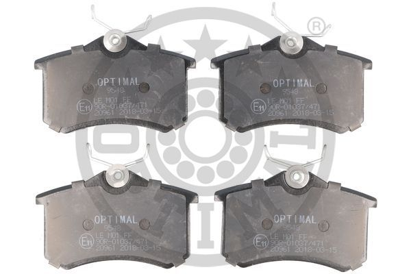Bremsbeläge BP-09548 OPTIMAL 20961 in Original Qualität