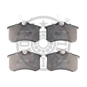Bremsbelagsatz, Scheibenbremse Breite: 52,8mm, Dicke/Stärke: 15,2mm mit OEM-Nummer 77 01 207 695