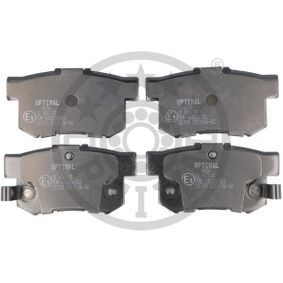 Brake Pad Set, disc brake Width: 47mm, Thickness: 14,6mm with OEM Number 43022SX0A52