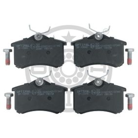 Bremsbelagsatz, Scheibenbremse Breite: 52,8mm, Dicke/Stärke: 17,2mm mit OEM-Nummer 6X0 698 451A