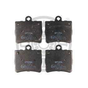 Bremsbelagsatz, Scheibenbremse Breite: 63,3mm, Dicke/Stärke: 15,8mm mit OEM-Nummer A002 420 51 20
