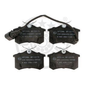 Bremsbelagsatz, Scheibenbremse Breite: 52,74mm, Dicke/Stärke: 17,2mm mit OEM-Nummer 6Q0.698.451