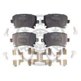 Bremsbelagsatz, Scheibenbremse Breite: 56mm, Dicke/Stärke: 16mm mit OEM-Nummer 1K0698451H