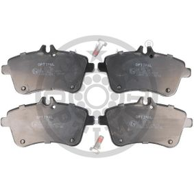 Brake Pad Set, disc brake Width: 70mm, Thickness: 20,1mm with OEM Number A16 942 00 120