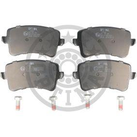 Bremsbelagsatz, Scheibenbremse Breite: 58,6mm, Dicke/Stärke: 17,3mm mit OEM-Nummer 8K0 698 451 D