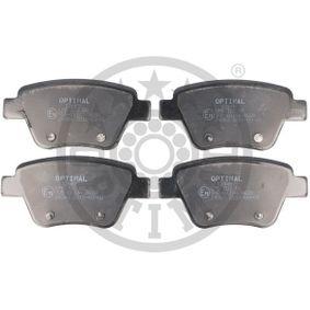 Bremsbelagsatz, Scheibenbremse Breite: 109,3mm, Höhe: 53,3mm, Dicke/Stärke: 16,9mm mit OEM-Nummer 5K0698451C