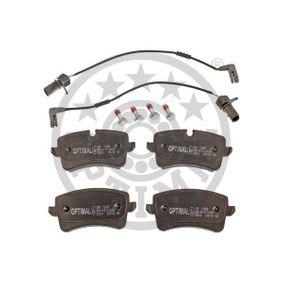 Bremsbelagsatz, Scheibenbremse Breite 1: 59,6mm, Dicke/Stärke: 17,4mm mit OEM-Nummer 4H0698451D