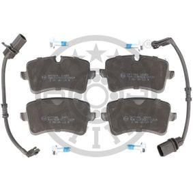 Bremsbelagsatz, Scheibenbremse Breite 1: 59,6mm, Dicke/Stärke: 17,4mm mit OEM-Nummer 4G0 698 451A