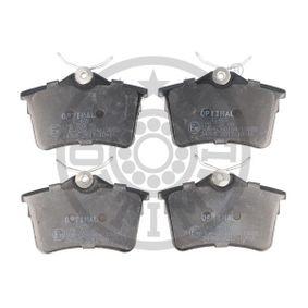 Bremsbelagsatz, Scheibenbremse Breite: 87,2mm, Höhe: 52,8mm, Dicke/Stärke: 16,5mm mit OEM-Nummer 1611837980