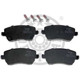 Brake Pad Set, disc brake Width: 116,5mm, Height: 52,6mm, Thickness: 16mm with OEM Number 55810-62J31