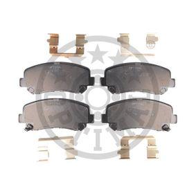 Bremsbelagsatz, Scheibenbremse Breite: 61,1mm, Dicke/Stärke: 15,8mm mit OEM-Nummer 25564 OPTIMAL