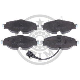 Kit de plaquettes de frein, frein à disque Hauteur: 64,5mm, Épaisseur: 19,1mm avec OEM numéro 8V0698151D