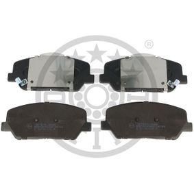 Bremsbelagsatz, Scheibenbremse Höhe: 60,1mm, Dicke/Stärke: 16,9mm mit OEM-Nummer 58101 A7A20