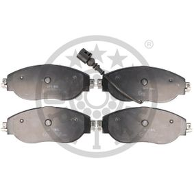 Brake Pad Set, disc brake Width: 175,3mm, Height: 69,7mm, Thickness: 19,3mm with OEM Number 3C0698151G