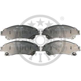 Bremsbelagsatz, Scheibenbremse Breite: 141,9mm, Höhe: 54,8mm, Dicke/Stärke: 15,8mm mit OEM-Nummer 55810 61M 50