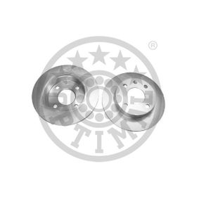 OPTIMAL Brake disc kit Front Axle, Solid, Coated