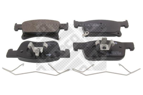MAPCO  6681 Bremsbelagsatz, Scheibenbremse Breite 1: 155mm, Höhe 1: 62mm, Höhe 2: 68mm, Dicke/Stärke: 18,2mm