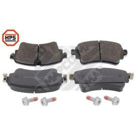 Brake Pad Set, disc brake Width: 129,2mm, Height: 59,1mm, Thickness: 17,5mm with OEM Number 8W0698451K