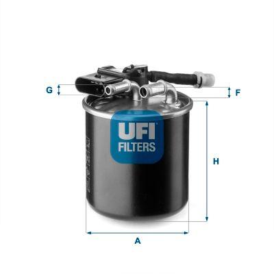 UFI  24.151.00 Fuel filter Height: 100,0mm