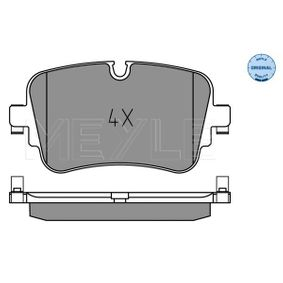 Brake Pad Set, disc brake Width: 129mm, Height: 65,3mm, Thickness: 17mm with OEM Number 4M0 698 451 P