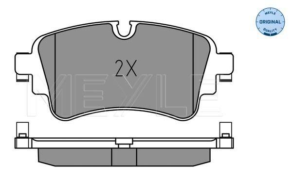 MEYLE  025 223 0817 Brake Pad Set, disc brake Width: 129,2mm, Height: 59,1mm, Thickness: 17,3mm