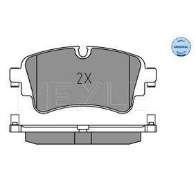 Brake Pad Set, disc brake Width: 129,2mm, Height: 59,1mm, Thickness: 17,3mm with OEM Number 8W0698451K