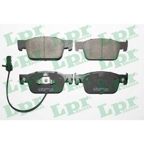 LPR  05P2038 Kit de plaquettes de frein, frein à disque Largeur: 155,2mm, Hauteur: 63,8mm, Épaisseur: 17mm