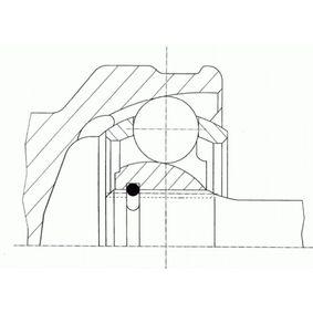 Gelenksatz, Antriebswelle Außenverz.Radseite: 24, Innenverz. Radseite: 22 mit OEM-Nummer 39100M7270